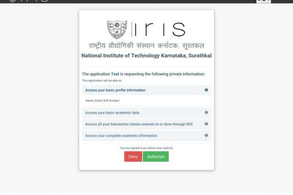 Releasing IRIS OAuth for Developers at NITK